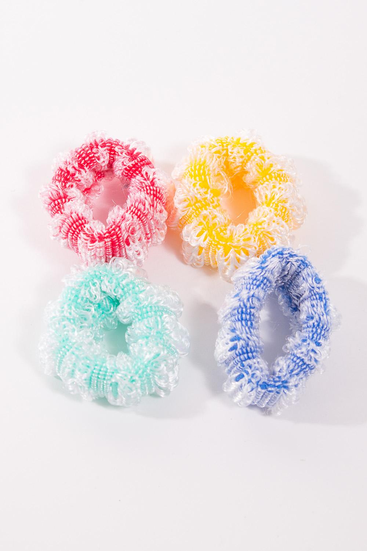 Набор резинокАксессуары для волос<br>Набор ярких резинок для волос.<br><br>Застежка: Резинка<br>По материалу: Текстиль<br>По рисунку: Цветные<br>По форме: Резинки<br>По стилю: Повседневный стиль<br>Размер : UNI<br>Материал: Текстиль<br>Количество в наличии: 4