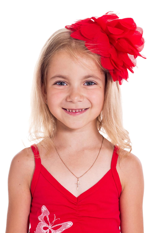 ОбодокУкрашения<br>Ободок для девочки украсит прическу и поднимет настроение Вашему ребенку.  Цветок 17 см  Цвет: красный<br><br>По сезону: Всесезон<br>Размер : UNI<br>Материал: Гипюровая сетка<br>Количество в наличии: 2