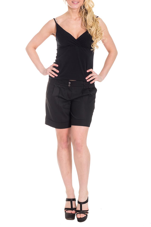 ШортыШорты<br>Классические шорты из приятной костюмной ткани. Модель имеет удобную застежку на молнии. Цвет: черный.  Рост девушки-фотомодели 170 см<br><br>По материалу: Костюмные ткани<br>По рисунку: Однотонные<br>По стилю: Классический стиль,Кэжуал,Повседневный стиль<br>По элементам: С декором,С карманами,С молнией,Со складками<br>По сезону: Лето<br>По длине: До колена<br>Размер : 42,44<br>Материал: Костюмная ткань<br>Количество в наличии: 2