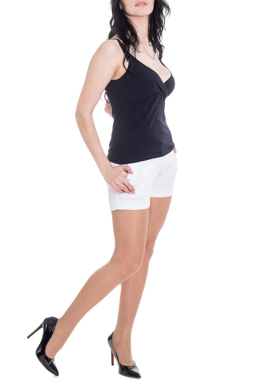 ШортыШорты<br>Чудесные женские шорты из приятной хлопковой ткани.  Цвет: белый.  Рост девушки-фотомодели 170 см<br><br>По длине: Мини<br>По материалу: Хлопок<br>По рисунку: Однотонные<br>По стилю: Летний стиль,Повседневный стиль<br>По элементам: С карманами<br>По сезону: Лето<br>Размер : 44<br>Материал: Хлопок<br>Количество в наличии: 1