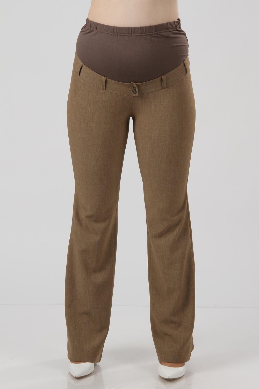 БрюкиБрюки для будущих мам<br>Удобные и красивые летние брюки из  ткани стретч прямого фасона.  Хороши как для повседневной носки, так и для будущих мам, так как верхняя часть выполнена из трикотажного полотна. Украшены карманами.   Цвет: коричневый  Рост девушки-фотомодели 176 см<br><br>По материалу: Вискоза<br>По рисунку: Однотонные<br>По силуэту: Приталенные<br>По сезону: Лето,Осень,Весна<br>По стилю: Повседневный стиль,Летний стиль<br>Размер : 42,44,46<br>Материал: Вискоза<br>Количество в наличии: 3