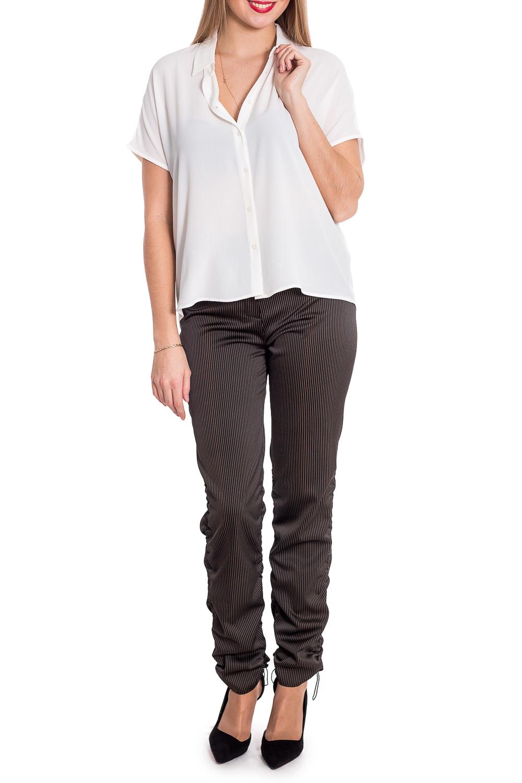БрюкиБрюки<br>Универсальные брюки с небольшой сборкой брючин. Модель выполнена из приятного материала. Отличный выбор для повседневного гардероба.  Изделие маломерит на один размер.  В изделии использованы цвета: черный в бледно-зеленую полоску  Рост девушки-фотомодели 170 см.<br><br>По материалу: Костюмные ткани,Тканевые<br>По рисунку: В полоску,С принтом,Цветные<br>По сезону: Весна,Зима,Лето,Осень,Всесезон<br>По силуэту: Полуприталенные<br>По стилю: Повседневный стиль<br>По элементам: С декором,С завязками,С карманами<br>Размер : 44,46<br>Материал: Костюмная ткань<br>Количество в наличии: 2