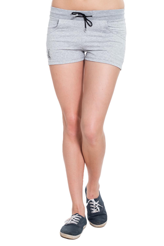 ШортыШорты<br>Лёгкие женские шорты из мягкого трикотажного полотна обеспечивают полную свободу движений во время занятий спортом или активного отдыха на природе. Отличный вариант одежды для дома и отдыха.  Цвет: серый  Рост девушки-фотомодели 170 см<br><br>По длине: Мини<br>По материалу: Трикотаж,Хлопок<br>По рисунку: Цветные<br>По стилю: Спортивный стиль<br>По форме: Велосипедки,Мини<br>По сезону: Лето<br>Размер : 44,46,48<br>Материал: Трикотаж<br>Количество в наличии: 10