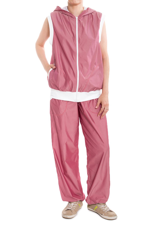 БрюкиСпортивная одежда<br>Замечательные брюки для занятия спортом и свободного стиля. У изделия два кармана. В данной модели используется подкладочная ткань quot;сеткаquot;, обеспечивающая комфорт при носке, оптимальные условия микроклимата, не сковывает движений. Модель, выполненная из ткани микрофибра - это текстиль новейшего поколения, бархатистая, эластичная, чрезвычайно крепкая ткань, устойчивая к химическому и световому воздействию. К преимуществам микрофибры следует отнести отсутствие quot;капризностиquot;: ткань мужественно переносит все тяготы эксплуатации, сохраняя первозданный вид в течение долгих лет.  В изделии использованы цвета: розовый, белый  Ростовка изделия 170 см  При создании образа, который Вы видите на фотографии, также был использован жилет арт. GL(1)-NNE. Для просмотра модели введите артикул в строке поиска.<br><br>Застежка: С завязками<br>По длине: Макси<br>По материалу: Плащевая ткань<br>По рисунку: Неоновые,Однотонные<br>По сезону: Весна,Зима,Осень,Всесезон<br>По силуэту: Полуприталенные<br>По стилю: Повседневный стиль,Спортивный стиль<br>По элементам: С карманами<br>По форме: Спортивные брюки<br>Размер : 50<br>Материал: Плащевая ткань<br>Количество в наличии: 1