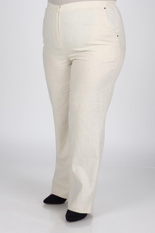 БрюкиБрюки<br>Классические летние брюки. Модель выполнена из натурального льна. Отличный выбор для повседневного и делового гардероба.  В изделии использованы цвете: молочный  Ростовка изделия 170 см.<br><br>По материалу: Лен,Тканевые<br>По рисунку: Однотонные<br>По сезону: Весна,Лето<br>По силуэту: Приталенные<br>По стилю: Летний стиль,Повседневный стиль<br>Размер : 48,50,52,54,60<br>Материал: Лен<br>Количество в наличии: 5
