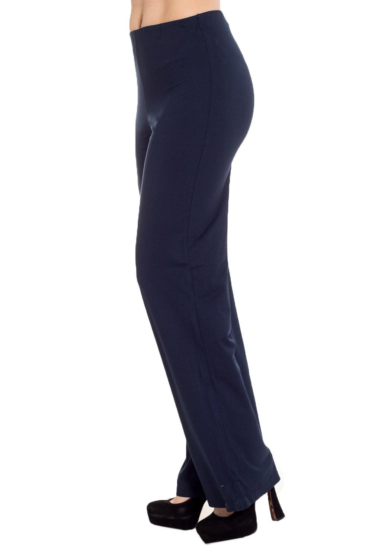 БрюкиБрюки<br>Удобные брюки полуприталенного силуэта из мягкой вискозы. Отличный выбор для повседневного гардероба.  Цвет: синий  Рост девушки-фотомодели 170 см.<br><br>По материалу: Вискоза,Трикотаж<br>По рисунку: Однотонные<br>По силуэту: Полуприталенные<br>По стилю: Офисный стиль,Повседневный стиль<br>По элементам: С заниженной талией<br>По сезону: Осень,Весна,Зима<br>Размер : 44<br>Материал: Вискоза<br>Количество в наличии: 1