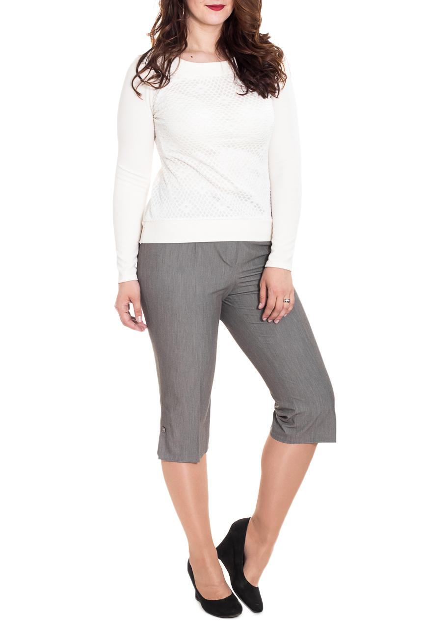 КаприКапри<br>Классические женские капри - это всегда актуальная и женственная модель, которая добавит удобства любому образу.  Цвет: серый.  Рост девушки-фотомодели 180 см<br><br>По длине: Ниже колена<br>По материалу: Костюмные ткани,Тканевые<br>По образу: Город,Круиз,Офис,Свидание<br>По рисунку: Однотонные<br>По силуэту: Приталенные<br>По стилю: Классический стиль,Кэжуал,Летний стиль,Офисный стиль,Повседневный стиль<br>По элементам: С декором,С молнией,Со стрелками<br>По сезону: Лето<br>Размер : 50<br>Материал: Костюмно-плательная ткань<br>Количество в наличии: 1
