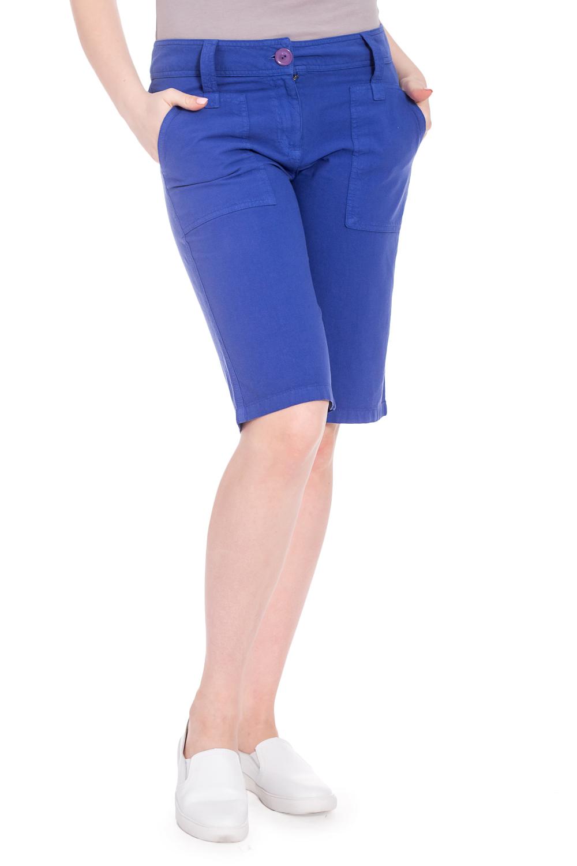 БриджиШорты<br>Хлопковые шорты длиной до колена. Модель выполнена из хлопкового материала. Отличный выбор для повседневного гардероба.  В изделии использованы цвета: синий  Рост девушки-фотомодели 170 см.<br><br>По длине: До колена<br>По материалу: Хлопок<br>По рисунку: Однотонные<br>По стилю: Кэжуал,Летний стиль,Повседневный стиль<br>По форме: Брюки-шорты<br>По элементам: С карманами<br>По сезону: Лето<br>Размер : 46,48<br>Материал: Хлопок<br>Количество в наличии: 2