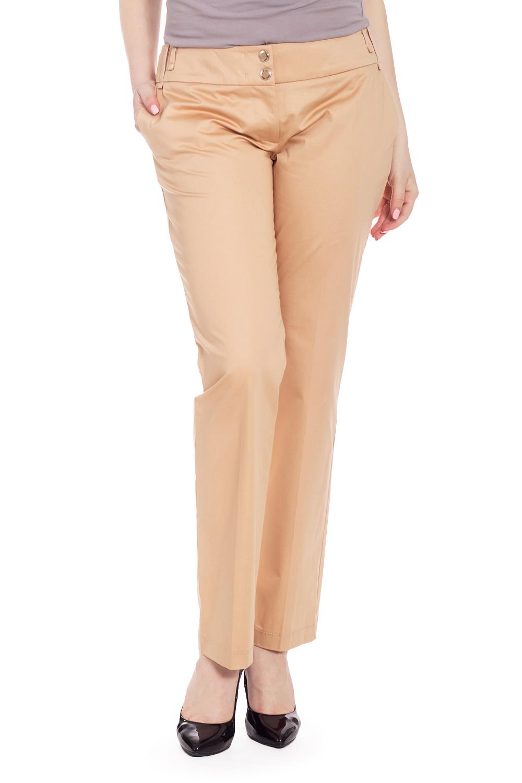 БрюкиБрюки<br>Универсальные брюки из хлопкового материала. Отличный выбор для повседневного гардероба.  В изделии использованы цвета: бежевый  Рост девушки-фотомодели 170 см.<br><br>По длине: Укороченные<br>По материалу: Хлопок<br>По рисунку: Однотонные<br>По сезону: Весна,Лето<br>По силуэту: Полуприталенные<br>По стилю: Классический стиль,Летний стиль,Офисный стиль,Повседневный стиль<br>По элементам: С карманами<br>Размер : 42,48<br>Материал: Хлопок<br>Количество в наличии: 2
