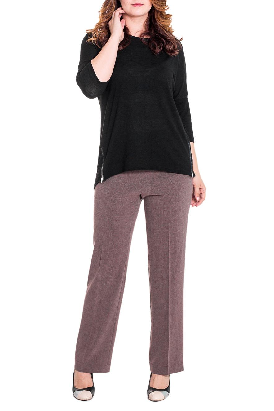 БрюкиБрюки<br>Классические женские брюки из плотной костюмной ткани. Отличный выбор для повседневного и делового гардероба.  Цвет: коричневый  Рост девушки-фотомодели 180 см<br><br>По материалу: Вискоза,Костюмные ткани,Тканевые<br>По рисунку: Однотонные<br>По сезону: Весна,Осень,Зима<br>По силуэту: Полуприталенные<br>По стилю: Классический стиль,Офисный стиль<br>По форме: Классические<br>По элементам: С резинкой<br>Размер : 52,64<br>Материал: Костюмная ткань<br>Количество в наличии: 2