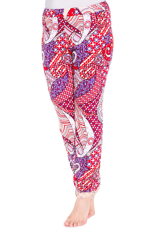 БрюкиБрюки<br>Домашние брюки свободного силуэта с двумя карманами. Домашняя одежда, прежде всего, должна быть удобной, практичной и красивой. В наших изделиях Вы будете чувствовать себя комфортно, особенно, по вечерам после трудового дня.  Цвет: красный, синий, белый  Рост девушки-фотомодели 180 см<br><br>По рисунку: Абстракция,Цветные,С принтом<br>По сезону: Весна,Осень<br>По силуэту: Свободные<br>По форме: Классические<br>По элементам: С карманами,С резинкой<br>По материалу: Трикотаж,Хлопок<br>Размер : 46,48,56<br>Материал: Хлопок<br>Количество в наличии: 3