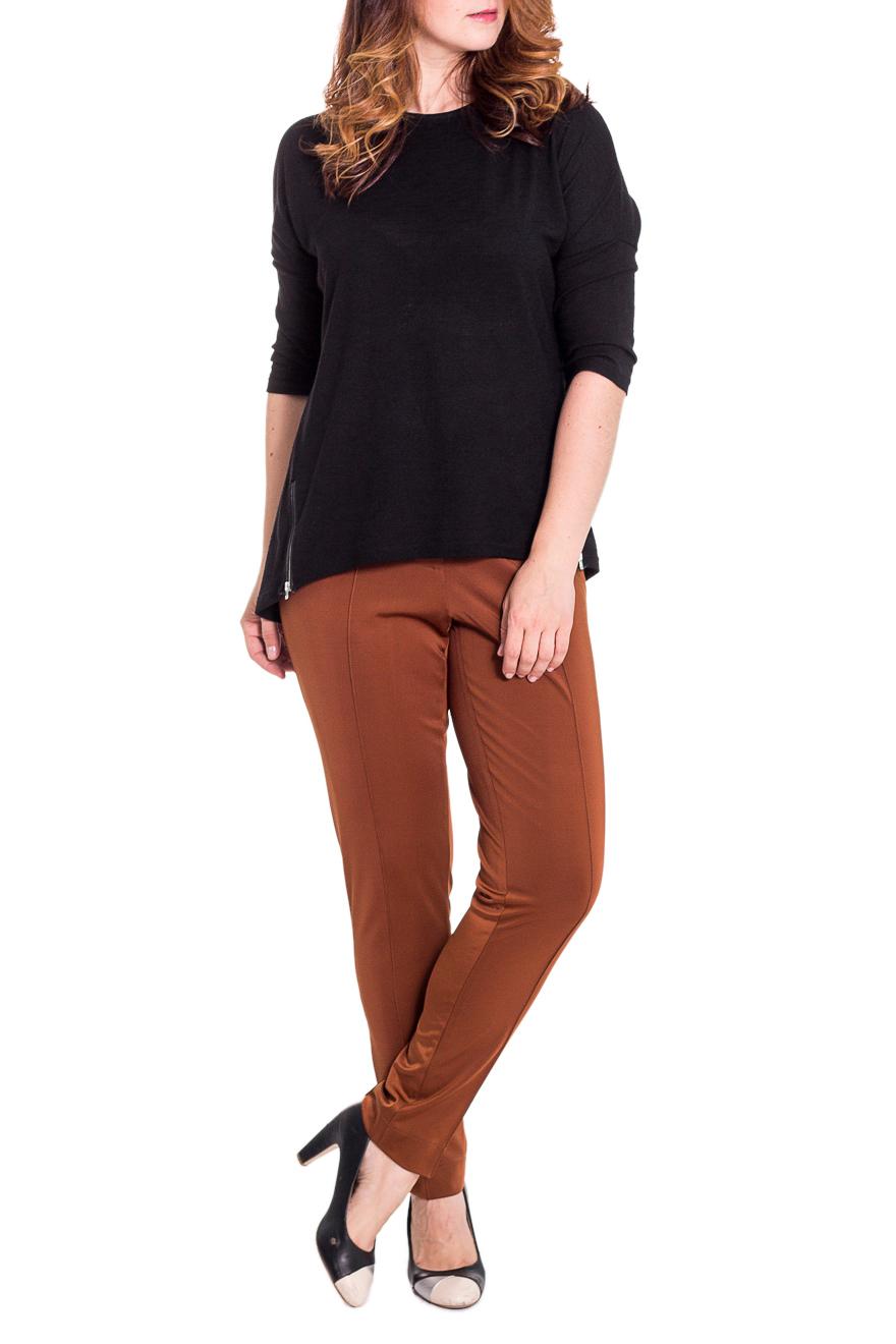 БрюкиБрюки<br>Классические женские брюки из плотного трикотажа. Отличный выбор для повседневного и делового гардероба.  Цвет: коричневый  Рост девушки-фотомодели 180 см<br><br>По материалу: Вискоза,Трикотаж<br>По рисунку: Однотонные<br>По сезону: Весна,Осень,Зима<br>По силуэту: Полуприталенные<br>По стилю: Классический стиль,Офисный стиль<br>По форме: Классические<br>По элементам: С резинкой<br>Размер : 46,48<br>Материал: Трикотаж<br>Количество в наличии: 2