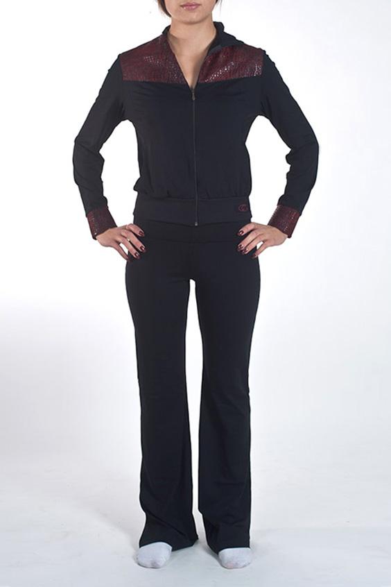 БрюкиБрюки<br>Отличные облегающие брюки для занятий спортом и свободного стиля. Модель декорирована двумя карманами с вставками из ткани под имитацию кожи. Изделие выполнено из ткани Supplex производитель DuPont - это высококачественный полиэстр. На ощупь и внешний вид он схож с мягким хлопком. Также это воздухопроницаемая ткань. Ткань SUPPLEX мягче, чем обычный полиэстр, так как она изготовлена из более тонких нитей. Изделия из SUPPLEX не выгорают, не создают парниковый эффект и позволяют телу дышать.  Модель идеально будет смотреться с курткой VOK(3)-NNE (для просмотра модели введите артикул в строке поиска)  Цвет: черный  Ростовка изделия 170 см.<br><br>По материалу: Трикотаж<br>По рисунку: Однотонные<br>По силуэту: Приталенные<br>По стилю: Повседневный стиль<br>По форме: Брюки-клеш<br>По элементам: С декором<br>По сезону: Осень,Весна<br>Размер : 46,48,50<br>Материал: Трикотаж<br>Количество в наличии: 3