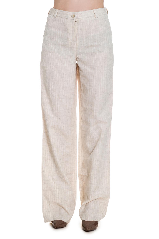 БрюкиБрюки<br>Удобные брюки из натурального льна. Отличный выбор для летнего гардероба.  Цвет: светло-бежевый  Ростовка изделия 170 см.<br><br>По длине: Удлиненные<br>По материалу: Лен<br>По образу: Город<br>По рисунку: Однотонные<br>По силуэту: Полуприталенные<br>По стилю: Повседневный стиль<br>По элементам: С завышенной талией,Со стрелками<br>По сезону: Лето<br>Размер : 44<br>Материал: Лен<br>Количество в наличии: 1