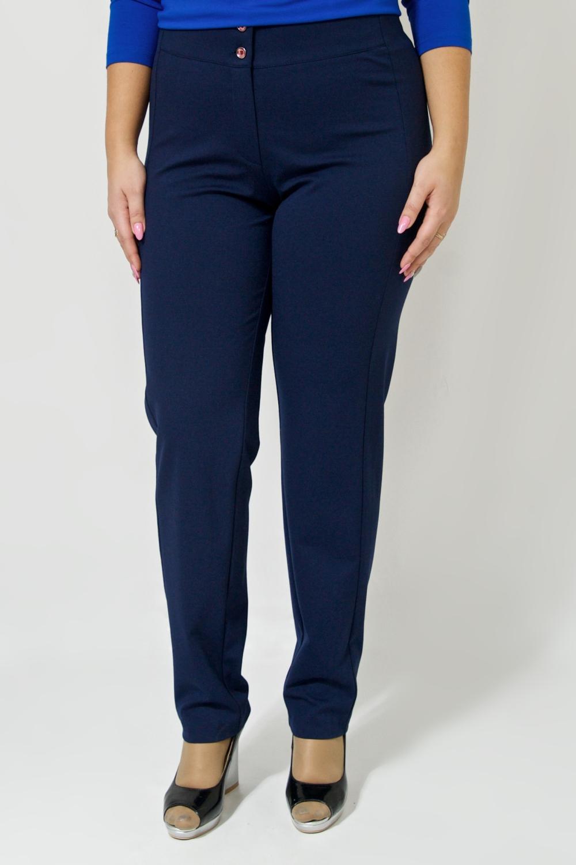 БрюкиБрюки<br>Ничто так не стройнит фигуру, как умело подобранные брюки Изготовленные из эластичного трикотажа, изделие хорошо садится по фигуре. Застежка на молнию и поговицы.  Цвет: темно-синий.  Ростовка изделия 170 см.<br><br>По материалу: Трикотаж<br>По рисунку: Однотонные<br>По сезону: Весна,Зима,Лето,Осень,Всесезон<br>По силуэту: Приталенные<br>По стилю: Классический стиль,Кэжуал,Офисный стиль,Повседневный стиль<br>По форме: Брюки-дудочки<br>По элементам: С молнией,С пуговицами<br>Размер : 46,48,50,52<br>Материал: Джерси<br>Количество в наличии: 4