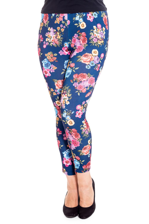БрюкиБрюки<br>Удобные летние брюки с цветочным принтом. Модель выполнена из приятного материала. Отличный выбор для повседневного гардероба.  В изделии использованы цвета: синий, розовый и др.  Рост девушки-фотомодели 180 см<br><br>По материалу: Трикотаж<br>По рисунку: Растительные мотивы,С принтом,Цветные,Цветочные<br>По силуэту: Приталенные<br>По стилю: Повседневный стиль<br>По форме: Зауженные<br>По элементам: С резинкой<br>По сезону: Лето<br>Размер : 50,52,54,56,58,60<br>Материал: Трикотаж<br>Количество в наличии: 13