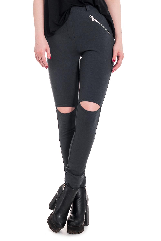 БрюкиБрюки<br>Ультрамодные женские брюки станут основой Вашего эффектного гардероба. Обтягивающие брюки сшитые из трикотажа можно смело носить в повседневной жизни, отправиться в них в модный клуб, пройтись по магазинам и т.д.  Трикотажные брюки с цельнокроенным поясом, шлевками и имитацией гульфика. На передней части изделия декоративные металлические молнии и разрезы чуть выше колена. На спинке кокетки.  Цвет: серый.  Рост девушки-фотомодели 168 см  Длина изделия по боковому шву - 108 ± 3 см Длина внутреннего шва - 81 ± 2 см  При создании образа, который Вы видите на фотографии, также была использована стильная майка арт. DG2616.<br><br>По материалу: Трикотаж<br>По рисунку: Однотонные<br>По сезону: Весна,Зима,Лето,Осень,Всесезон<br>По силуэту: Обтягивающие<br>По стилю: Байкерский стиль,Кэжуал,Молодежный стиль,Повседневный стиль,Ультрамодный стиль<br>По форме: Зауженные<br>По элементам: С декором,С молнией,С отделочной фурнитурой<br>Размер : 42,44,46,48,50,52<br>Материал: Футер<br>Количество в наличии: 12