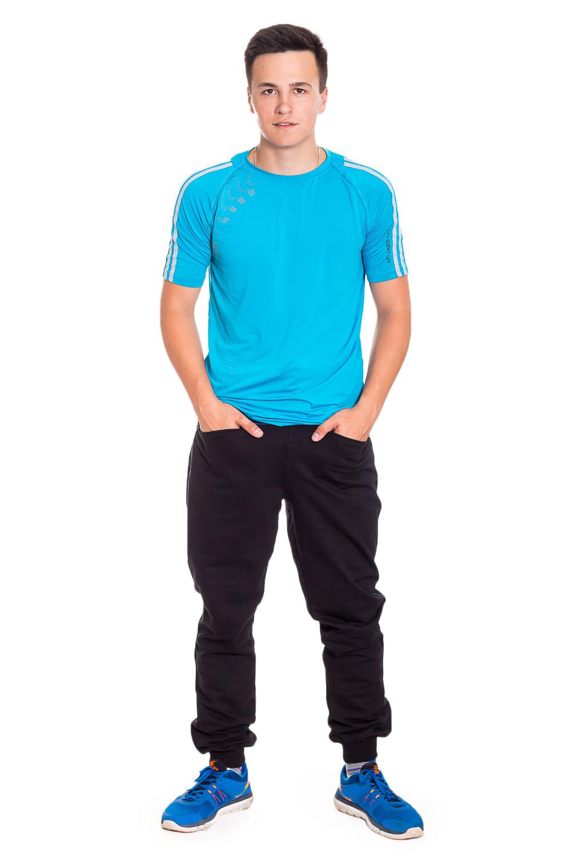 БрюкиБрюки<br>Мужские хлопковые брюки. Отличный вариант для активного отдыха и для домашнего использования.  Рост мужчины-фотомодели 178 см.  Цвет: черный.<br><br>По сезону: Всесезон<br>Размер : 48,54<br>Материал: Трикотаж<br>Количество в наличии: 2