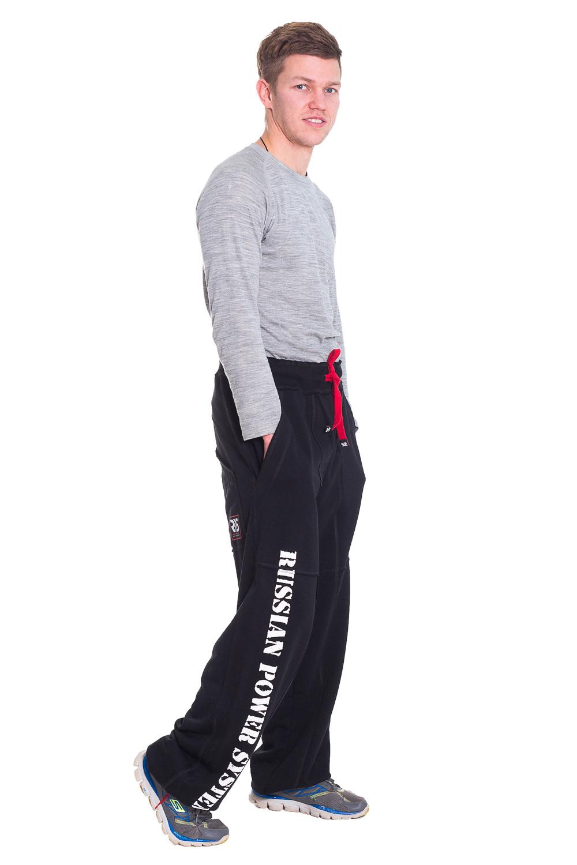 БрюкиБрюки<br>Удобные и практичные черные брюки для занятий спортом, для силовых видов спорта, активного отдыха. Материал - трикотаж, натуральный, мягкий, но прочный материал. Штаны не стесняют движений, самые интенсивные движения не доставят вам дискомфорта. Эти брюки – наилучший выбор для тренировок в спортивном зале, утренних и вечерних пробежек, или просто загородных прогулок в прохладную или сырую погоду. Затягиваются на поясе, удобные карманы.  Цвет: черный, белый, красный  Рост мужчины-фотомодели 173 см<br><br>По сезону: Осень,Весна<br>Размер: 48,50,54<br>Материал: 100% хлопок<br>Количество в наличии: 5