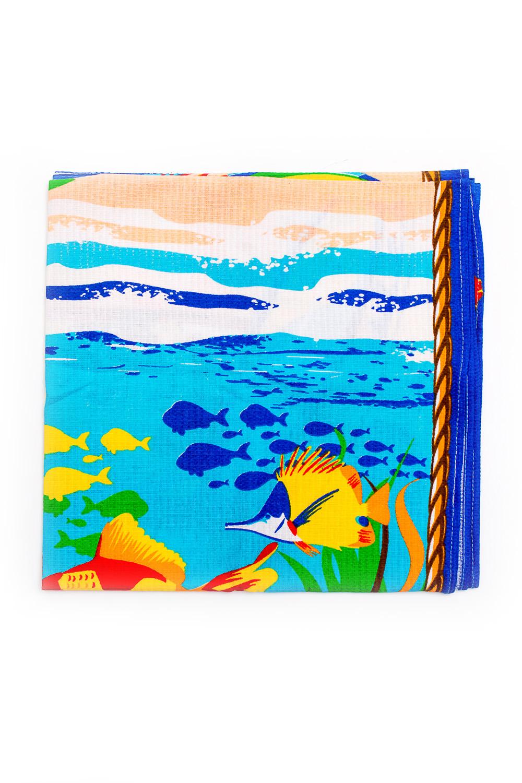 ПолотенцеПолотенца<br>Полотенце банное вафельное  Размер: 80*150 см.  В изделии использованы цвета: голубой, бежевый и др.<br><br>Отделка края: Отделка строчкой<br>По материалу: Хлопковые<br>По рисунку: С принтом (печатью),Цветные<br>По сезону: Всесезон<br>Размер : 80*150<br>Материал: Хлопок<br>Количество в наличии: 5