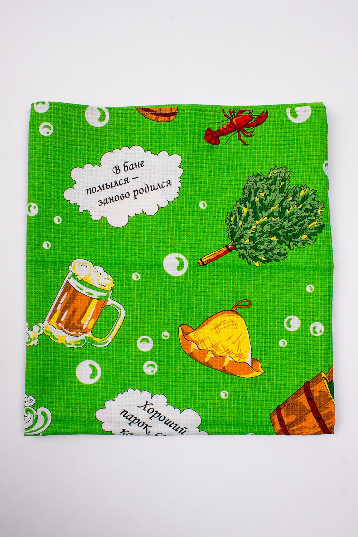ПолотенцеПолотенца<br>Яркое вафельное банное полотенце.  В изделии использованы цвета: зеленый и др.<br><br>По материалу: Вафельные,Хлопок<br>По рисунку: Геометрия,Цветные,С принтом<br>Размер : 80*150<br>Материал: Хлопок<br>Количество в наличии: 4