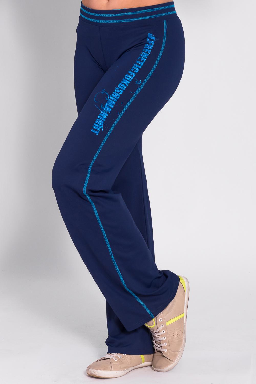 БрюкиБрюки<br>Удобные брюки из плотного трикотажа. Отличный выбор для занятий спортом или активного отдыха  Цвет: синий, голубой  Рост девушки-фотомодели 170 см<br><br>По материалу: Трикотаж<br>По рисунку: Однотонные,С принтом<br>По сезону: Весна,Осень<br>По силуэту: Полуприталенные<br>По стилю: Повседневный стиль,Спортивный стиль<br>По элементам: С карманами<br>Размер : 44,46<br>Материал: Трикотаж<br>Количество в наличии: 2