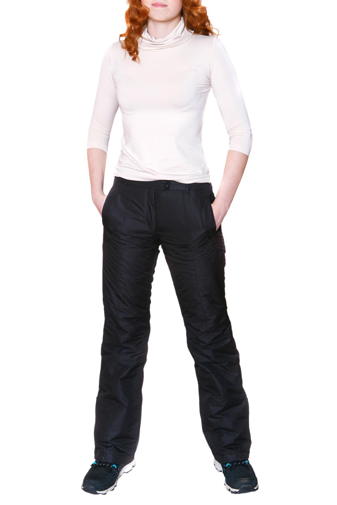 БрюкиБрюки<br>Утепленные женские брюки из непродуваемого материала. Отличный выбор для активного отдыха или повседневного гардероба.  Цвет: черный  Ростовка изделия 170 см.<br><br>По материалу: Тканевые<br>По рисунку: Однотонные<br>По силуэту: Полуприталенные<br>По стилю: Повседневный стиль<br>По элементам: С карманами<br>По сезону: Зима<br>Размер : 42,44,46,48,50,52,54<br>Материал: Мембрана<br>Количество в наличии: 12