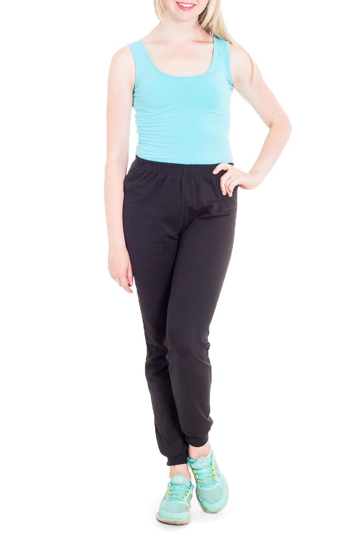 БрюкиСпортивная одежда<br>Комфортные брюки из мягкого хлопка. Отличный выбор для занятий спортом или активного отдыха.  Цвет: черный  Рост девушки-фотомодели 170 см<br><br>По материалу: Трикотаж,Флис<br>По образу: Город,Спорт<br>По рисунку: Однотонные<br>По силуэту: Полуприталенные<br>По стилю: Повседневный стиль,Спортивный стиль<br>По сезону: Осень,Весна<br>Размер : 42<br>Материал: Трикотаж<br>Количество в наличии: 2