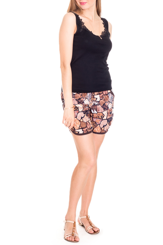 ШортыШорты<br>Хлопковые шорты с ярким принтом. Домашняя одежда, прежде всего, должна быть красивой, удобной и практичной. В шортах Вы будете чувствовать себя комфортно, особенно, по вечерам после трудового дня.  Цвет: бежевый, коричневый  Рост девушки-фотомодели 170 см.<br><br>По рисунку: Цветные,С принтом<br>По сезону: Весна,Зима,Лето,Осень,Всесезон<br>По силуэту: Полуприталенные<br>По элементам: С карманами,С завязками<br>По материалу: Хлопок<br>Размер : 46<br>Материал: Хлопок<br>Количество в наличии: 1