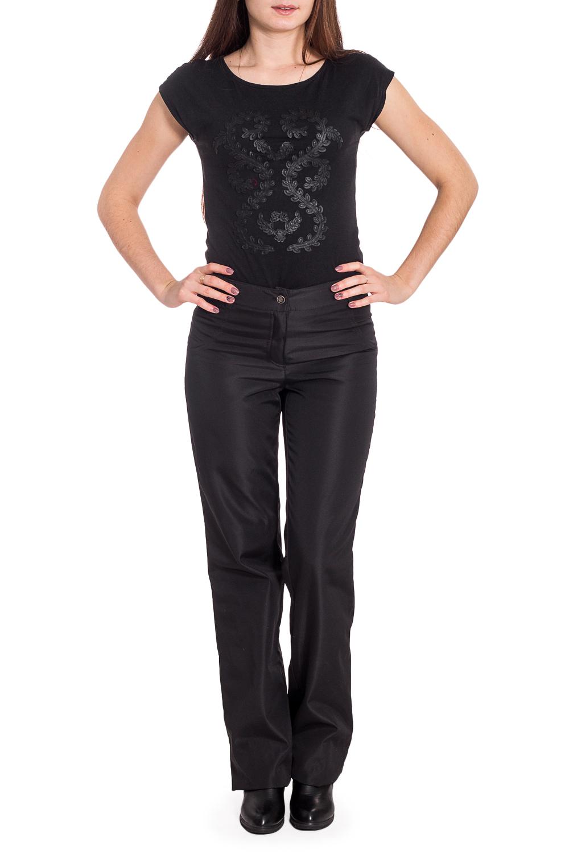 БрюкиБрюки<br>Утепленные брюки прямого силуэта. Модель выполнена из плотного материала. Отличный выбор для повседневного и делового гардероба.  Цвет: черный  Рост девушки-фотомодели 173 см<br><br>По материалу: Тканевые<br>По рисунку: Однотонные<br>По силуэту: Полуприталенные<br>По стилю: Офисный стиль,Повседневный стиль<br>По сезону: Зима<br>Размер : 44,46,48<br>Материал: Костюмная ткань<br>Количество в наличии: 3
