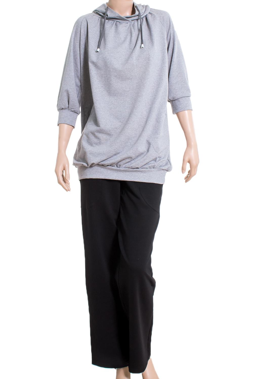 БрюкиСпортивная одежда<br>Удобные брюки из плотного трикотажа. Отличный выбор для активного отдыха или занятий спортом.  Цвет: черный  Ростовка изделия 170 см<br><br>По длине: Макси<br>По рисунку: Однотонные<br>По силуэту: Полуприталенные<br>По стилю: Повседневный стиль,Спортивный стиль<br>По элементам: С карманами<br>По сезону: Осень,Весна<br>Размер : 46<br>Материал: Трикотаж<br>Количество в наличии: 1