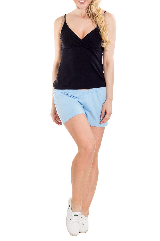 ШортыОдежда для дома<br>Комфортные домашние шорты из мягкого трикотажа. Домашняя одежда, прежде всего, должна быть удобной, практичной и красивой.  За счет свободного кроя и эластичного материала изделие можно носить во время беременности  Цвет: голубой  Рост девушки-фотомодели 170 см.<br><br>По сезону: Всесезон<br>Размер : 42,44,46<br>Материал: Трикотаж<br>Количество в наличии: 3