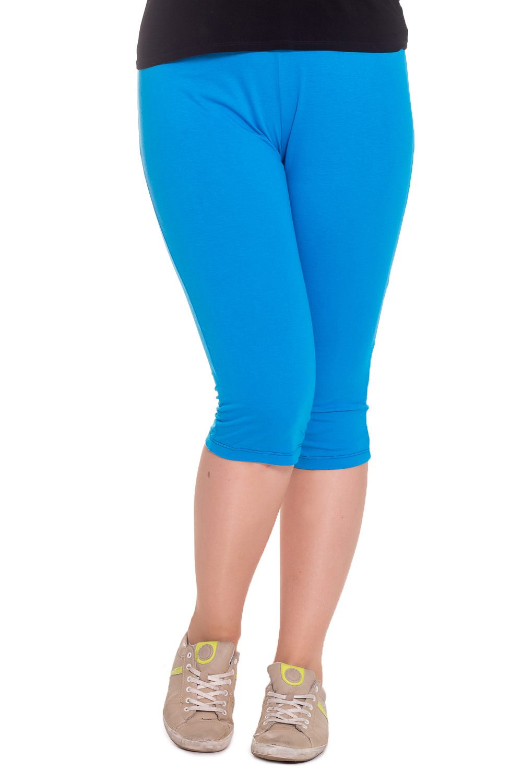 БриджиКапри и бриджи<br>Однотонные бриджи из эластичного трикотажа. Домашняя одежда, прежде всего, должна быть удобной, практичной и красивой. В бриджах Вы будете чувствовать себя комфортно, особенно, по вечерам после трудового дня.  Цвет: голубой  Рост девушки-фотомодели 180 см.<br><br>По рисунку: Однотонные<br>По сезону: Весна,Осень<br>По силуэту: Приталенные<br>По материалу: Трикотаж,Хлопок<br>По элементам: С резинкой<br>Размер : 46<br>Материал: Хлопок<br>Количество в наличии: 5