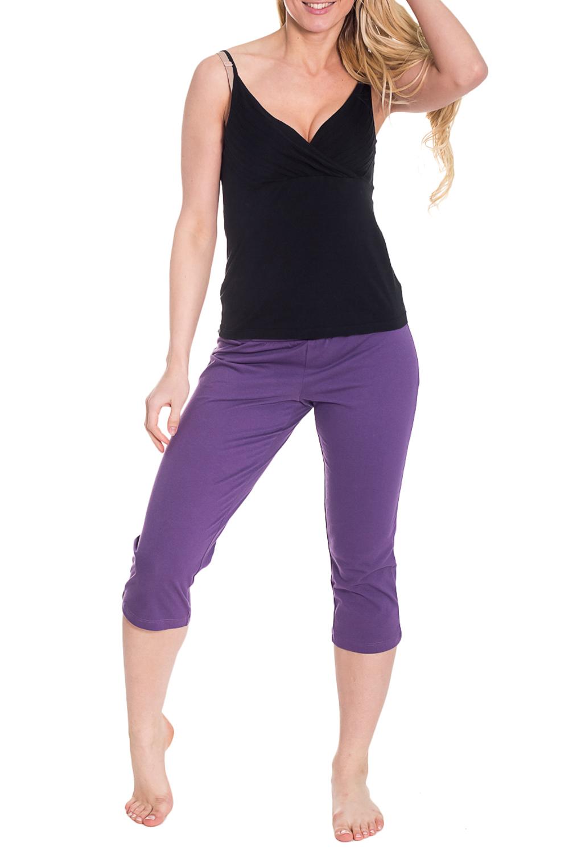 БриджиКапри и бриджи<br>Однотонные бриджи из эластичного трикотажа. Домашняя одежда, прежде всего, должна быть удобной, практичной и красивой. В бриджах Вы будете чувствовать себя комфортно, особенно, по вечерам после трудового дня.  Цвет: фиолетовый  Рост девушки-фотомодели 170 см.<br><br>По рисунку: Однотонные<br>По сезону: Весна,Осень<br>По силуэту: Полуприталенные<br>По элементам: На резинке<br>По материалу: Хлопок<br>Размер : 44<br>Материал: Хлопок<br>Количество в наличии: 1