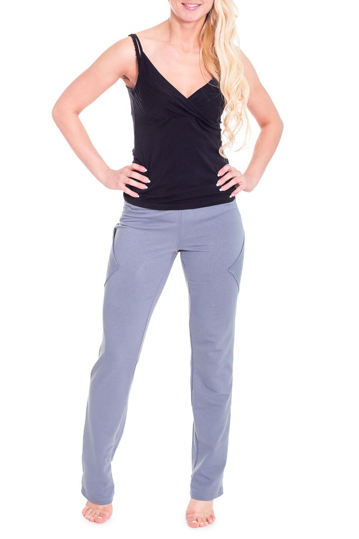 БрюкиСпортивная одежда<br>Спортивные брюки из плотного трикотажа. Отличный выбор для активного отдыха или занятий спортом.  Цвет: серый  Рост девушки-фотомодели 170 см.<br><br>По материалу: Трикотаж,Хлопок<br>По рисунку: Однотонные<br>По сезону: Весна,Осень<br>По стилю: Повседневный стиль,Спортивный стиль<br>По элементам: С карманами<br>По длине: Макси<br>По силуэту: Приталенные<br>По форме: Брюки<br>Размер : 42,44,46,48<br>Материал: Трикотаж<br>Количество в наличии: 7