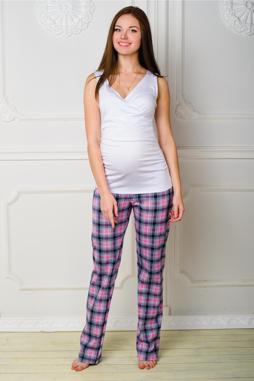 БрюкиОдежда для дома<br>Комфортные домашние брюки из мягкого трикотажа. Домашняя одежда, прежде всего, должна быть удобной, практичной и красивой.  За счет свободного кроя и эластичного материала изделие можно носить во время беременности  Цвет: розовый, черный<br><br>По сезону: Всесезон<br>По материалу: Хлопок<br>По рисунку: С принтом,Цветные,В клетку<br>По силуэту: Прямые<br>Размер : 42,44,46<br>Материал: Трикотаж<br>Количество в наличии: 3