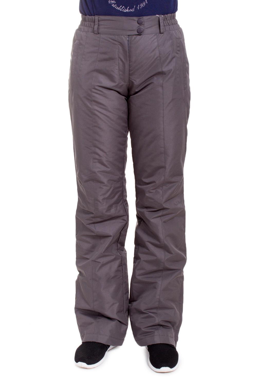 БрюкиБрюки<br>Утепленные женские брюки из непродуваемого материала. Отличный выбор для активного отдыха или повседневного гардероба.  Цвет: серый  Ростовка изделия 170 см.<br><br>По материалу: Тканевые<br>По рисунку: Однотонные<br>По силуэту: Полуприталенные<br>По стилю: Повседневный стиль,Спортивный стиль<br>По элементам: С резинкой<br>По сезону: Зима<br>Размер : 42,44,46,48,50,52,54,56<br>Материал: Мембрана<br>Количество в наличии: 13