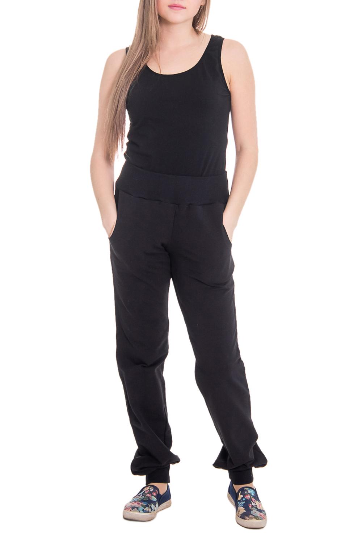 БрюкиБрюки<br>Комфортные домашние брюки из мягкого трикотажа. Домашняя одежда, прежде всего, должна быть удобной, практичной и красивой. В наших изделиях Вы будете чувствовать себя комфортно, особенно, по вечерам после трудового дня.  Цвет: черный  Рост девушки-фотомодели 164 см<br><br>По рисунку: Однотонные<br>По сезону: Весна,Осень<br>По силуэту: Свободные<br>По элементам: На резинке<br>По длине: Удлиненные<br>По материалу: Трикотаж,Хлопок<br>Размер : 44,46,52,54,56<br>Материал: Трикотаж<br>Количество в наличии: 11