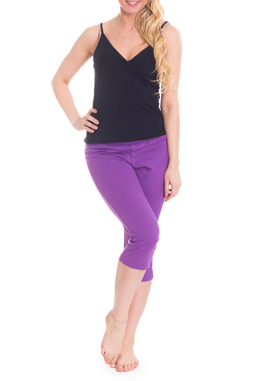 БриджиКапри и бриджи<br>Однотонные бриджи из эластичного трикотажа. Домашняя одежда, прежде всего, должна быть удобной, практичной и красивой. В бриджах Вы будете чувствовать себя комфортно, особенно, по вечерам после трудового дня.  Цвет: фиолетовый  Рост девушки-фотомодели 170 см<br><br>По рисунку: Однотонные<br>По сезону: Весна,Зима,Лето,Осень,Всесезон<br>По силуэту: Приталенные<br>По материалу: Трикотаж,Хлопок<br>По длине: Ниже колена<br>По элементам: С резинкой<br>Размер : 46<br>Материал: Хлопок<br>Количество в наличии: 2