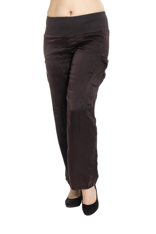 БрюкиБрюки<br>Универсальные брюки из приятного материала. Отличный выбор для повседневного гардероба.  Цвет: коричневый  Рост девушки-фотомодели 180 см.<br><br>По материалу: Шелк<br>По рисунку: Однотонные<br>По силуэту: Полуприталенные<br>По стилю: Повседневный стиль<br>По элементам: С карманами,С резинкой<br>По сезону: Лето<br>Размер : 44,46,48,50,54,60,64,68<br>Материал: Шелк<br>Количество в наличии: 24
