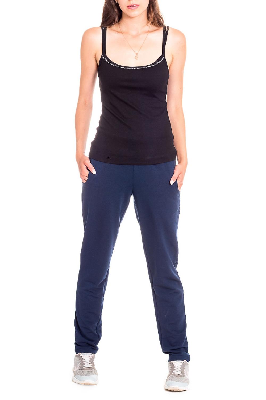 БрюкиСпортивная одежда<br>Удобные брюки из эластичного трикотажа. Отличный выбор для занятий спортом или ативного отдыха.Ростовка 164 см.Цвет: синийРост девушки-фотомодели 170 см<br><br>Длина: Макси<br>Материал: Трикотаж<br>Рисунок: Однотонные<br>Сезон: Весна,Осень<br>Силуэт: Полуприталенные<br>Стиль: Повседневный стиль,Спортивный стиль,Молодежный стиль<br>Элементы: С карманами<br>Размер : 56<br>Материал: Трикотаж<br>Количество в наличии: 1