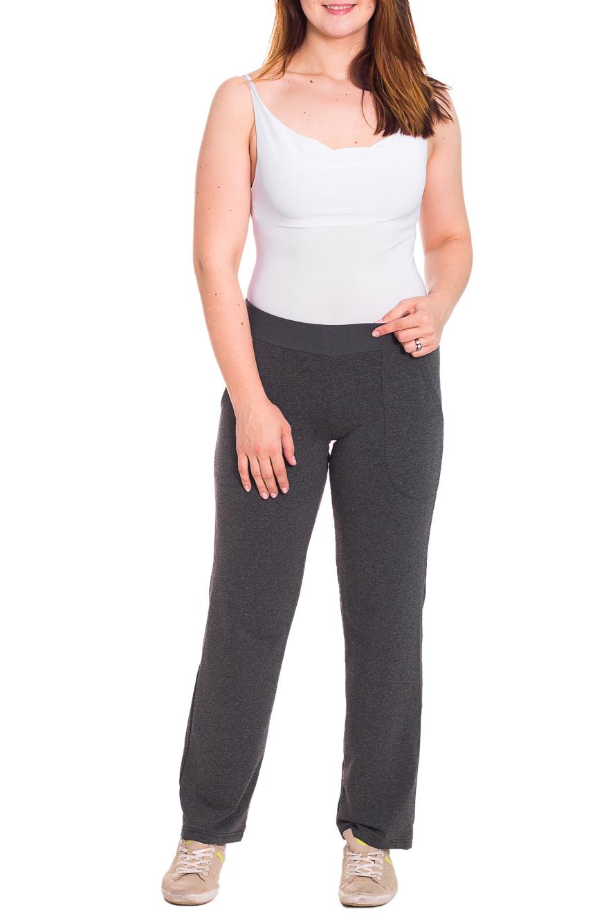 БрюкиБрюки<br>Спортивные брюки из плотного трикотажа. Отличный выбор для активного отдыха или занятий спортом.  Цвет: серый  Рост девушки-фотомодели 180 см<br><br>По длине: Удлиненные<br>По материалу: Трикотаж<br>По образу: Город,Спорт<br>По рисунку: Однотонные<br>По силуэту: Полуприталенные<br>По стилю: Повседневный стиль,Спортивный стиль<br>По элементам: С карманами<br>По сезону: Осень,Весна<br>Размер : 50<br>Материал: Трикотаж<br>Количество в наличии: 1