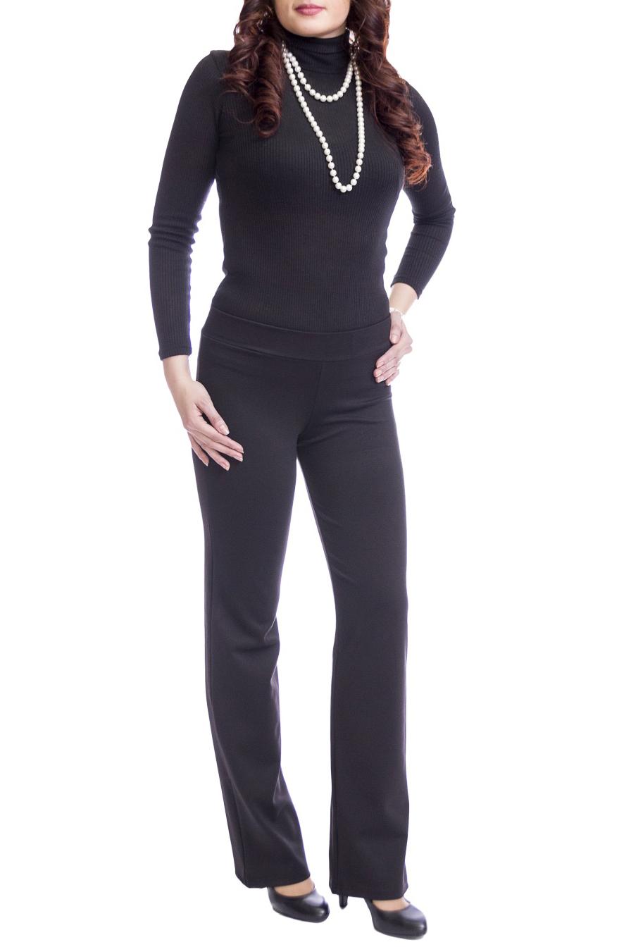 БрюкиБрюки<br>Эти трикотажные брюки-стретч дарят великолепное ощущение комфорта. Благодаря эластичному поясу они удобны в носке. Наличие эластана в составе ткани обеспечивает свободу движений. Отличный выбор для повседневного и делового гардероба. Ткань - плотный трикотаж, характеризующийся эластичностью, растяжимостью и мягкостью.  Цвет: черный  Рост девушки-фотомодели 170 см.<br><br>По материалу: Трикотаж<br>По рисунку: Однотонные<br>По силуэту: Полуприталенные<br>По стилю: Офисный стиль,Повседневный стиль<br>По сезону: Осень,Весна,Зима<br>Размер : 44,46,48,52<br>Материал: Трикотаж<br>Количество в наличии: 8