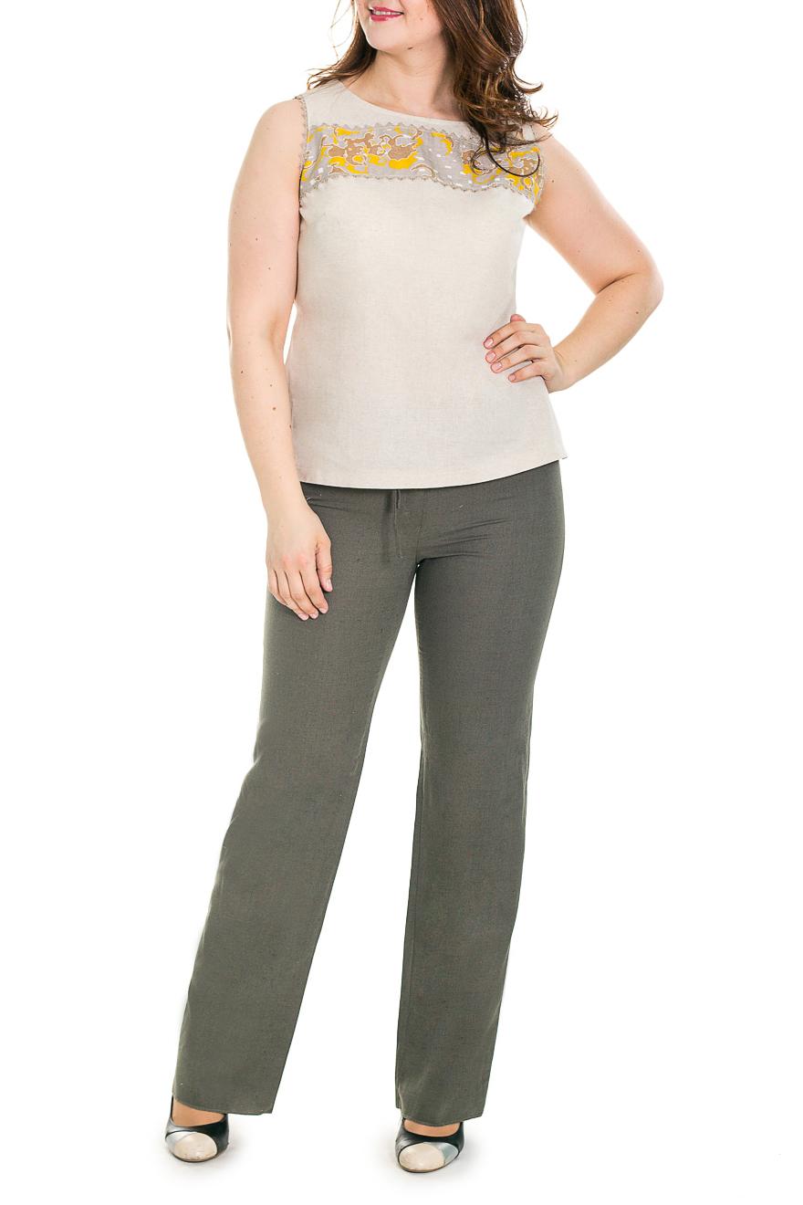 БрюкиБрюки<br>Классические женские брюки, слегка расклешенного кроя, приятного оттенка.  Цвет: хаки.  Рост девушки-фотомодели 180 см<br><br>По длине: Удлиненные<br>По материалу: Лен<br>По образу: Город,Офис,Свидание<br>По рисунку: Однотонные<br>По силуэту: Полуприталенные,Приталенные<br>По стилю: Классический стиль,Кэжуал,Офисный стиль,Повседневный стиль<br>По форме: Классические<br>По элементам: С карманами,С молнией<br>По сезону: Лето<br>Размер : 44,46,52,58<br>Материал: Лен<br>Количество в наличии: 5