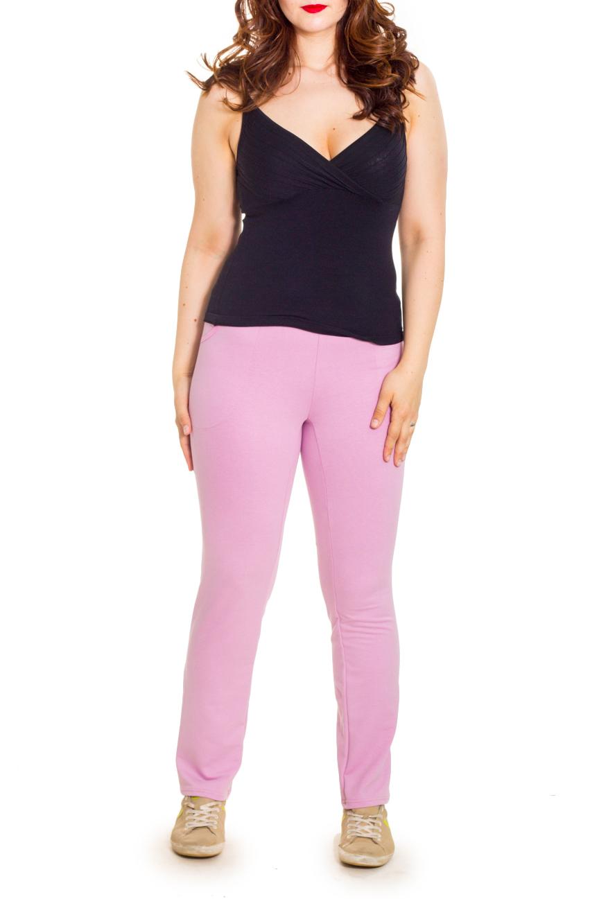 БрюкиБрюки<br>Однотонне брюки на резинке. Модель выполнена из эластичного трикотажа. Отличный выбор для повседневного гардероба.  Цвет: розовый  Рост девушки-фотомодели 180 см.<br><br>По материалу: Трикотаж,Хлопок<br>По рисунку: Однотонные<br>По силуэту: Полуприталенные<br>По стилю: Повседневный стиль,Спортивный стиль<br>По сезону: Осень,Весна<br>Размер : 42,44,46,48,50,56<br>Материал: Трикотаж<br>Количество в наличии: 9