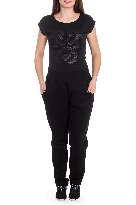 БрюкиБрюки<br>Удепленные брюки из плотного трикотажа. Отличный выбор для занятий спортом ил активного отдыха.  Цвет: черный  Рост девушки-фотомодели 173 см<br><br>По материалу: Трикотаж<br>По рисунку: Однотонные<br>По силуэту: Полуприталенные<br>По стилю: Кэжуал,Повседневный стиль,Спортивный стиль<br>По элементам: С карманами<br>По сезону: Зима<br>Размер : 44,46,48,50,52,54,56<br>Материал: Футер<br>Количество в наличии: 31