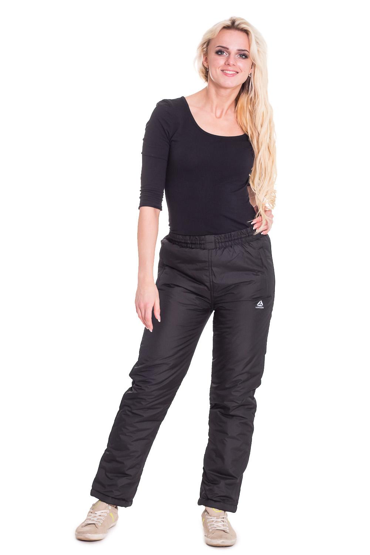 БрюкиБрюки<br>Утепленные женские брюки из непродуваемого материала. Отличный выбор для активного отдыха или повседневного гардероба.  Цвет: черный  Рост девушки-фотомодели 170 см<br><br>По образу: Город,Спорт<br>По стилю: Повседневный стиль,Спортивный стиль<br>По материалу: Тканевые<br>По рисунку: Однотонные<br>По сезону: Зима<br>По силуэту: Полуприталенные<br>По элементам: С резинкой<br>Размер: 44,54<br>Материал: 100% полиэстер<br>Количество в наличии: 1