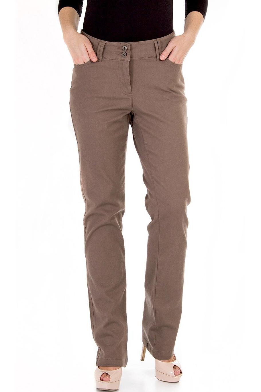БрюкиБрюки<br>Женские брюки из плотной костюмной ткани. Отличный выбор для повседневного и делового гардероба.  Цвет: светло-коричневый<br><br>По материалу: Тканевые,Хлопок<br>По рисунку: Однотонные<br>По силуэту: Полуприталенные<br>По стилю: Повседневный стиль<br>По сезону: Осень,Весна,Зима<br>Размер : 44,46,48<br>Материал: Костюмная ткань<br>Количество в наличии: 11