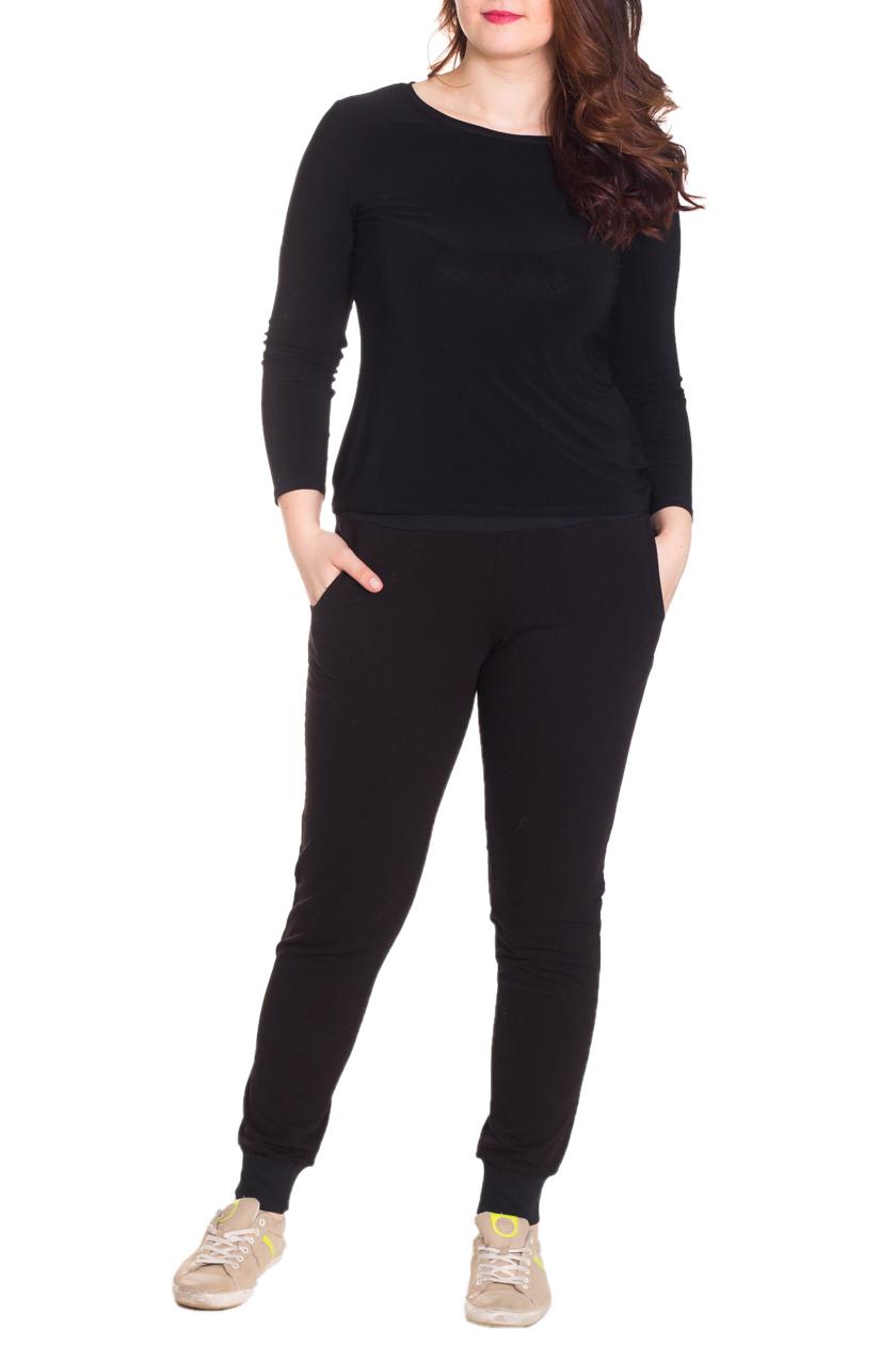 БрюкиБрюки<br>Комфортные брюки из мягкого трикотажа. Отличный выбор для занятий спортом или активного отдыха.  Цвет: коричневый  Рост девушки-фотомодели 180 см  Ростовка изделия 164 см.<br><br>По материалу: Трикотаж,Хлопок<br>По рисунку: Однотонные<br>По силуэту: Полуприталенные<br>По стилю: Повседневный стиль,Спортивный стиль<br>По элементам: С карманами,С резинкой<br>По сезону: Осень,Весна<br>Размер : 44,46,48,50,52,54,56<br>Материал: Трикотаж<br>Количество в наличии: 26