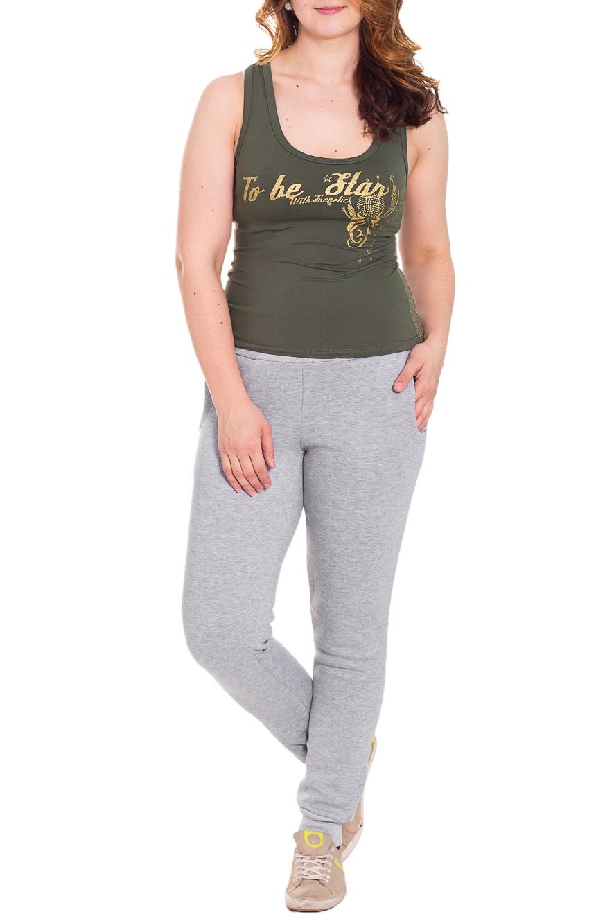 БрюкиБрюки<br>Удобные брюки из плотного трикотажа. Отличный выбор для занятий спортом или активного отдыха.  Цвет: серый  Рост девушки-фотомодели 180 см.<br><br>По материалу: Трикотаж<br>По рисунку: Однотонные<br>По сезону: Весна,Осень<br>По силуэту: Полуприталенные<br>По стилю: Повседневный стиль,Спортивный стиль<br>Размер : 44,46,48,50,52,54<br>Материал: Трикотаж<br>Количество в наличии: 19